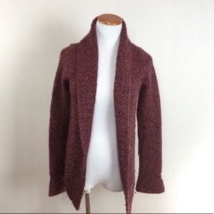 Anthro HWR Monogram Open Thick Knit Sweater XS